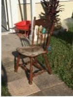 original Ethan Allen chair for Dining Room Makeover
