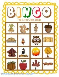 Bingo Game Fall Version