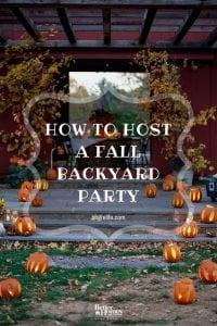 Hosting a Fall Backyard Party
