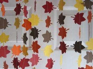 Fall Party -Leaf Garland