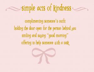 simple acts of kindness littlemissblog.com
