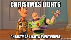 Incredible Christmas Light Displays Buzz and Woody Meme