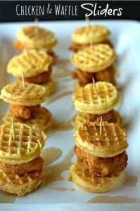 Chicken & Waffles Super Bowl Food Ideas littlemissblog.com