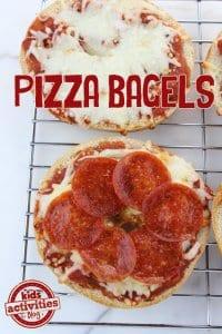 Pizza Bagels for your Super Bowl Party littlemissblog.com