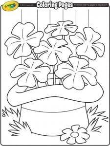 Printable Coloring Pages for St Patrick's day littlemissblog.com