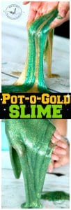 Pot-o-Gold Slime for St Pattys Day littlemissblog.com