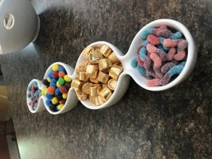 Mini Candy Bar for Wellie Wisher Party
