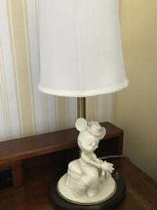 White Ceramic Minnie Lamp