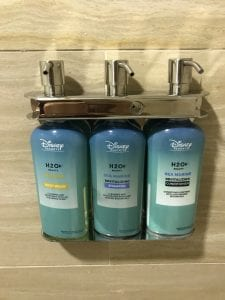 Soap Dispenser in shower at Disney's Boardwalk Hotel