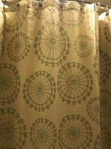 Shower Curtain with Ferris Wheel in Disney's Boardwalk Inn