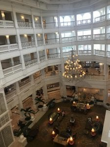 Grand Floridian Main Building View from the 4th Floor