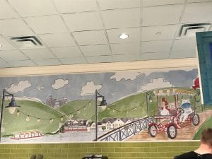 Ample Hills Creamery Picture on the wall of NYC