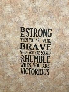 Be Brave Bathroom Vinyl Quote