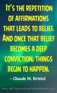 Repetition of Affirmations Quote