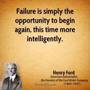 Henry Ford quote on failure