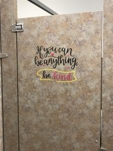 Be Kind Bathroom Vinyl Quote