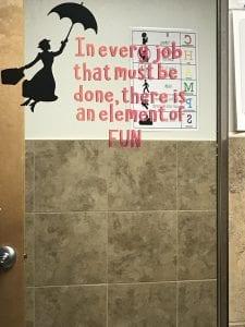 Mary Poppins Vinyl Bathroom Quote