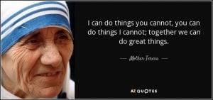 Great things quote by mother teresa