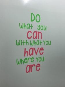 Do what you can vinyl bathroom quote