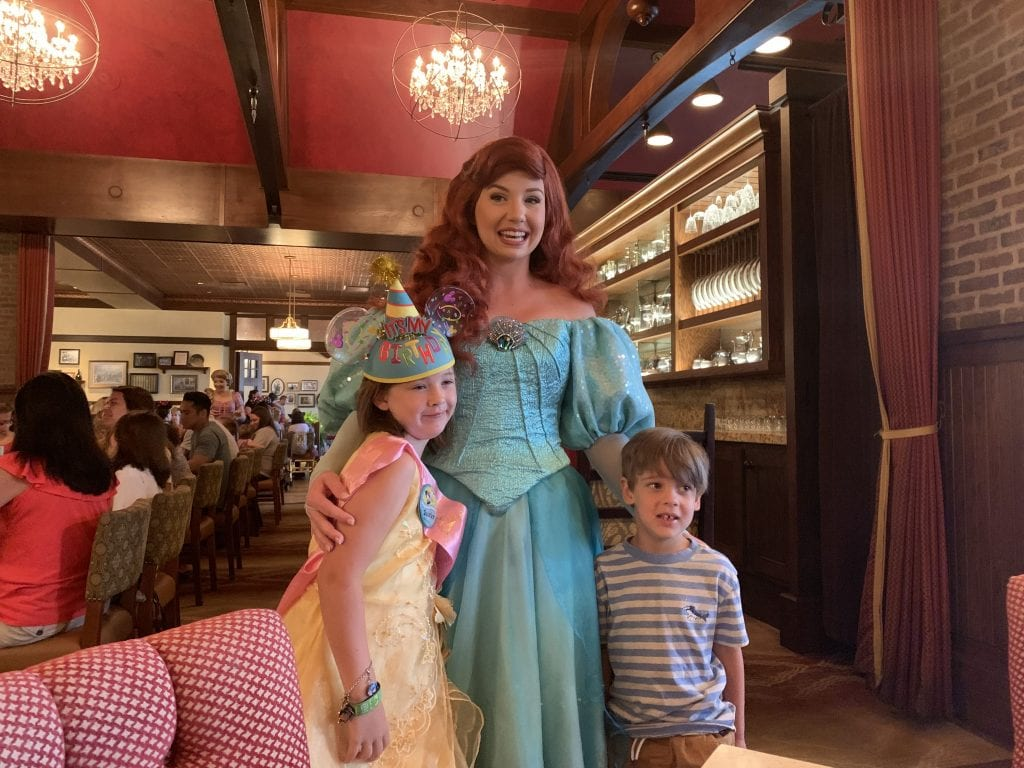 Ariel at Rapunzel Breakfast