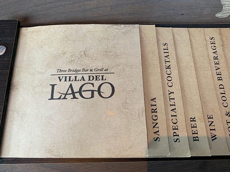 Menu Villa Del Lago