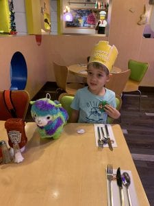 Legoland Birthday Dinner at Bricks