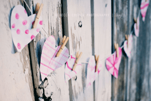 Heart Garland using different patterned hearts