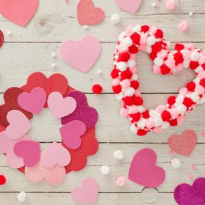 Heart Wreath Valentine Craft
