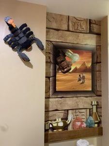 Wall inside Legoland Hotel Room
