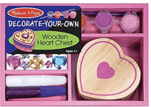 Wooden Heart Chest for Kids