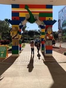 Front walkway to Legoland Resort