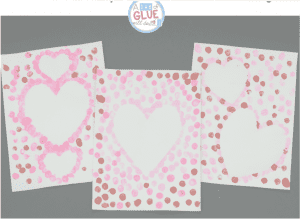 Thumbprint hearts crafts for Valentines Day