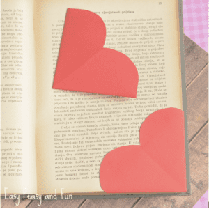 Valentines Bookmark made with heart