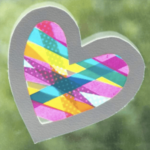 Washi Tape Heart Craft For Valentines Day