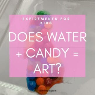 Science Experiment with Kids Candy and Water