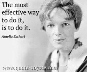 Effective Way to do something Amelia Earhart