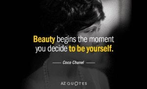 Beauty Begins Quote by Coco Chanel