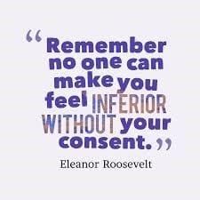 Inferior quote Eleanor Roosevelt