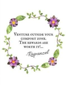 Venture outside- Rapunzel Quote