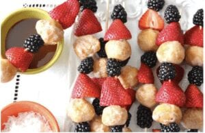 Donut and Fruit Kabobs
