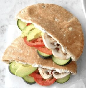 Pita Sandwiches for lunch
