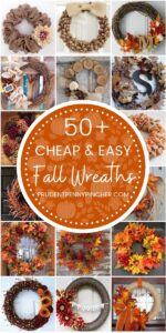 Cheap and Easy Fall Wreaths