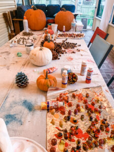 Acorn Painting and Fall Decorations