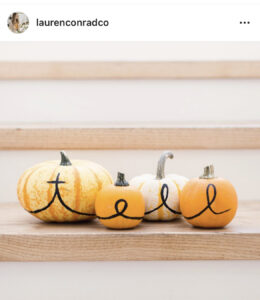 Pumpkin Decorating by Lauren Conrad