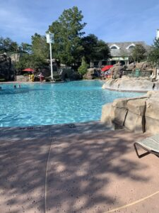 Pool at Saratoga Springs Resort while staying at Treehouse Villas