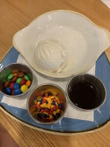 Ice Cream Sundae at Olivias