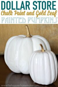 Chalk Painted Pumpkins
