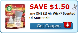 Save $1.50 any ONE (1) Air Wick® Scented Oil Starter Kit