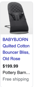 Baby Bjorn Quilted Bouncer