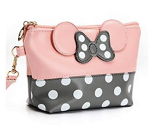 Minnie Mouse Leather Travel Makeup Bag